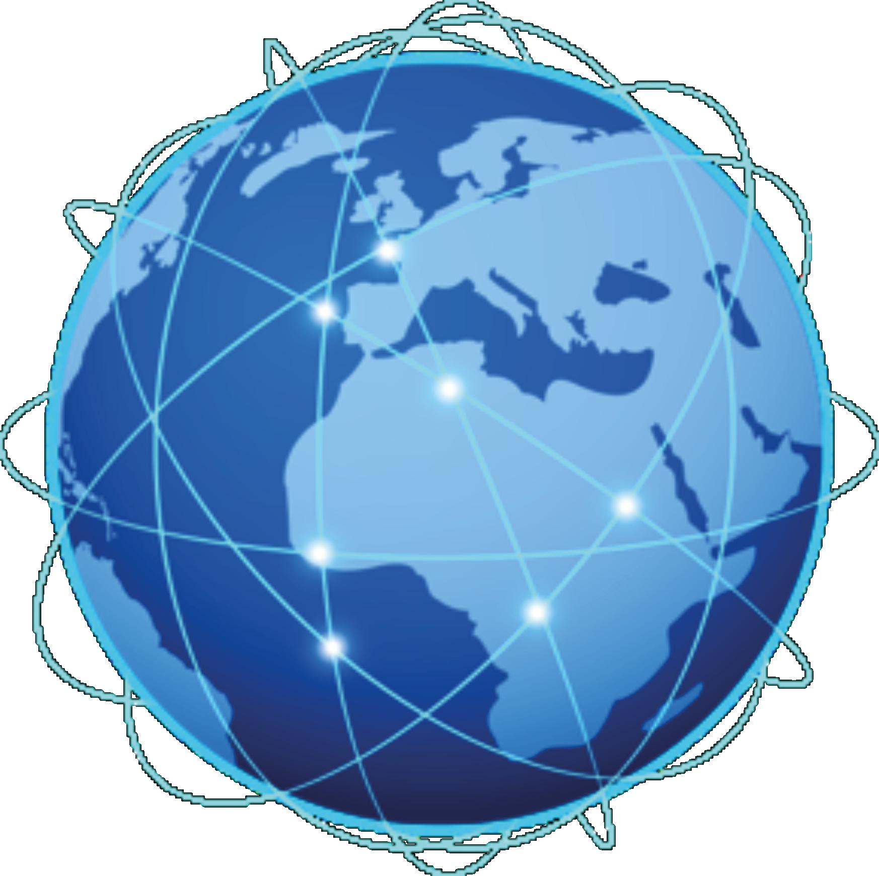 Vernetzte Standorte Weltkugel